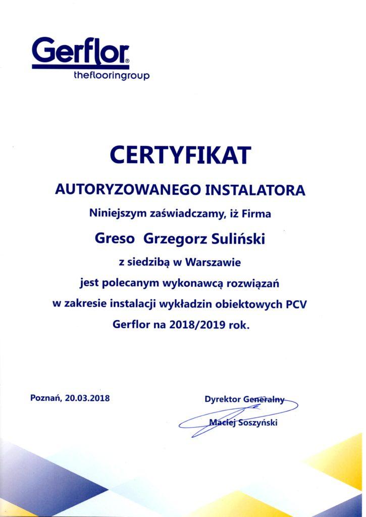 certyfikat tarket